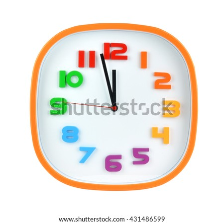 clock face isolated on white background  - stock photo
