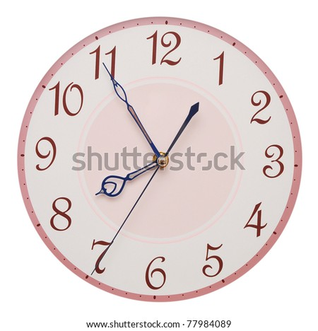 clock face isolated on white background - time concept - stock photo