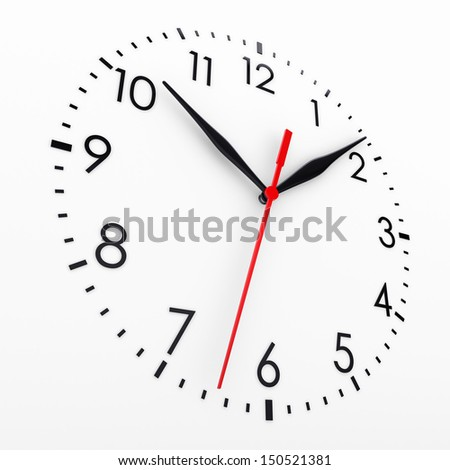 Clock face. Isolated render on a white background