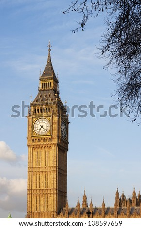 Clock face of Big Ben, Westminster