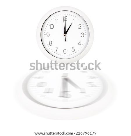 Clock Face Showing 12 O'clock Clock Face Showing One O'clock