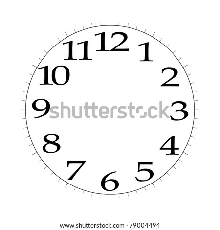 Digital Clock Face Stock Photos RoyaltyFree Images  Vectors