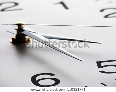 Clock face. Time concept. - stock photo