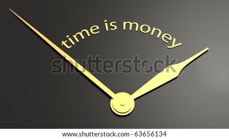 Clock-face with text time is money - stock photo