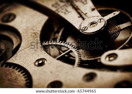 clock gear - stock photo