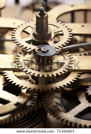 Clock gears - stock photo