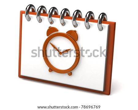 Clock icon - stock photo