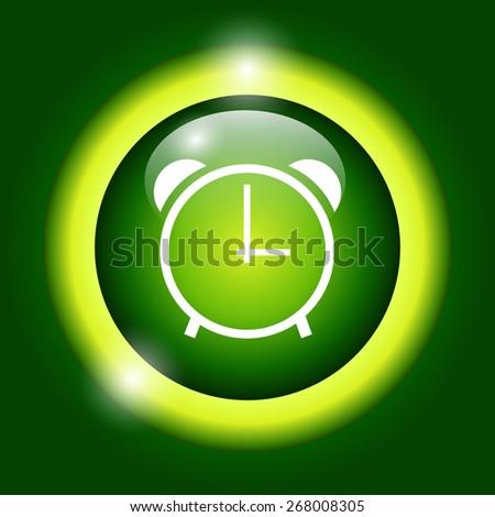 clock icon,  flat Illustrator - stock photo