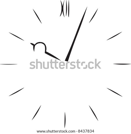Clock illustration - stock photo