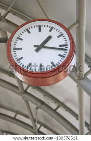 Clock in Subway Station in Germany