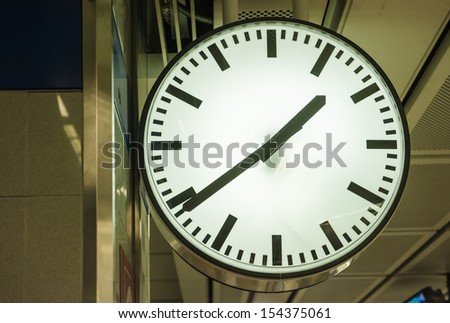 Clock in the Station - stock photo