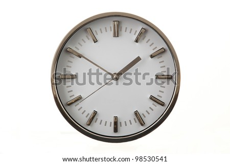 Clock in white background