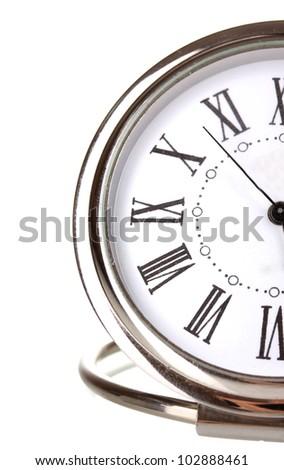 Clock isolated on white - stock photo