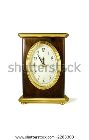 Clock isolated over white background.