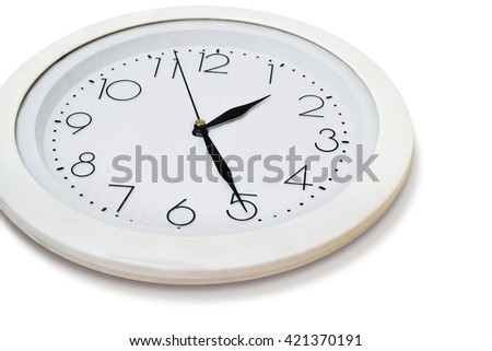 clock isolated over white background - stock photo