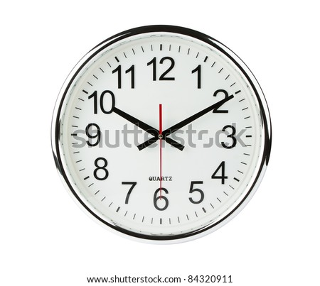 Clock isolated with clipping path - stock photo