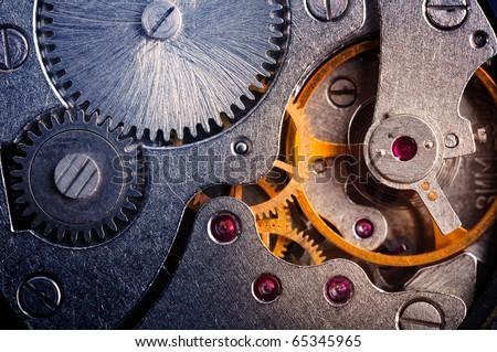 clock mechanism - stock photo