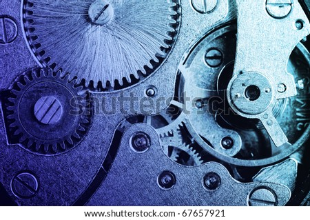 clock mechanism - stock photo