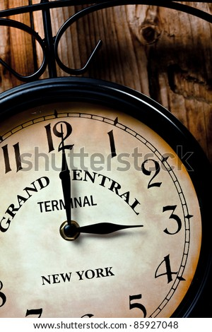 clock of grand central station - stock photo
