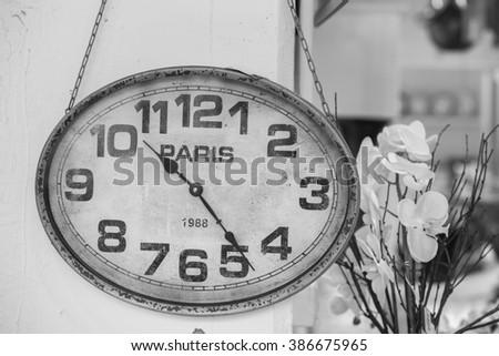 Clock of Paris. Alarm - stock photo