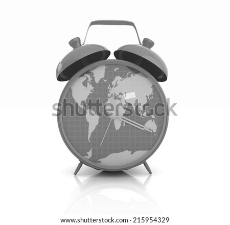 Hand robot holding earth isolated on stock illustration 504819310 clock of world map gumiabroncs Choice Image