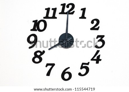 Clock on a wall - stock photo