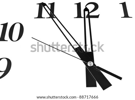 clock on a white background - stock photo