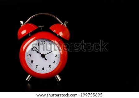 Clock on black background