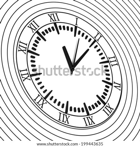 Clock On Spiral - stock photo