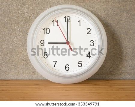Clock on the table - stock photo