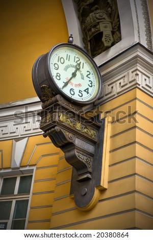 Clock on the wall - stock photo