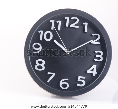 clock or wall clock on a background