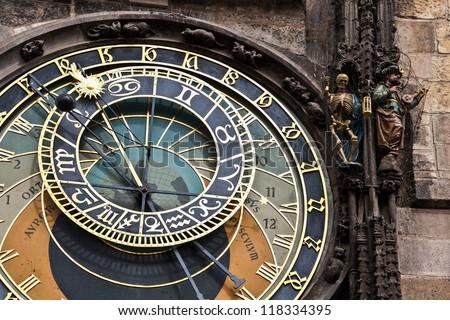 Clock (Prague) - stock photo