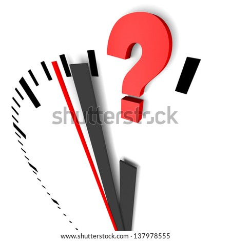 clock question - stock photo