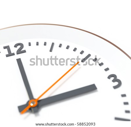 clock. render with depth of field