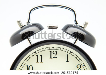 clock's bells on a white background - stock photo