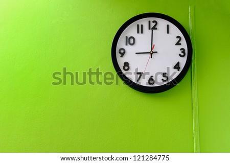 Clock showing 9:00 o'clock - stock photo