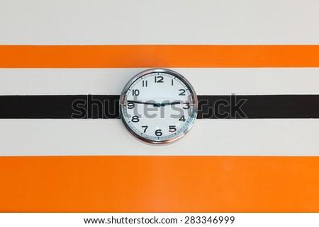 Clock showing 2:47 o'clock - stock photo