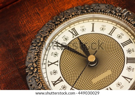 Clock showing time about twelve  - stock photo