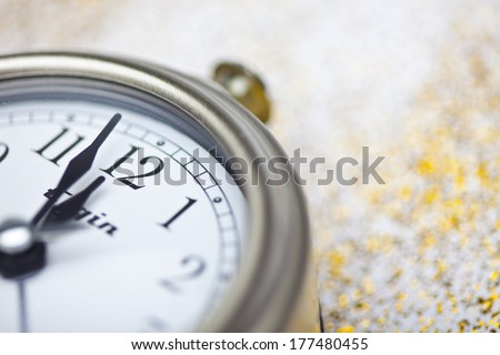 Clock Striking Twelve - stock photo