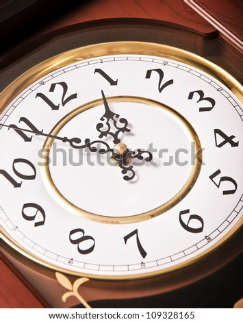 Clock Time - stock photo