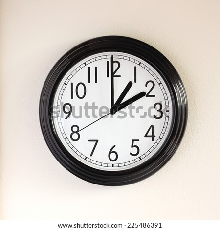 Clock time change from daylight saving to standard  - stock photo