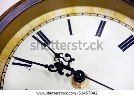 clock time close up, old fashion stile