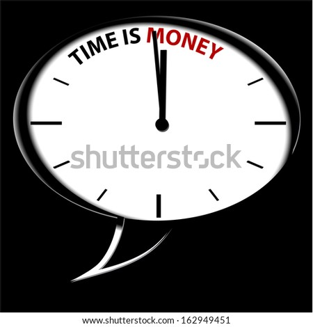 "Clock ""Time is Money"""