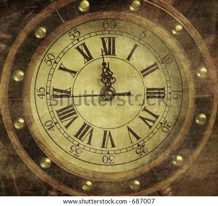 Vintage Clocknew Years Midnight Stock Photo 65726446