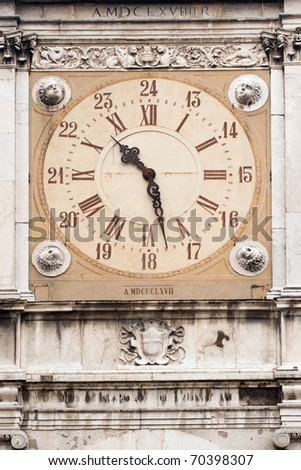 Clock tower, City Hall of Modena, Italy - stock photo
