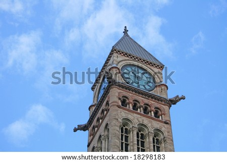 Clock tower from Toronto's Old City Hall - stock photo