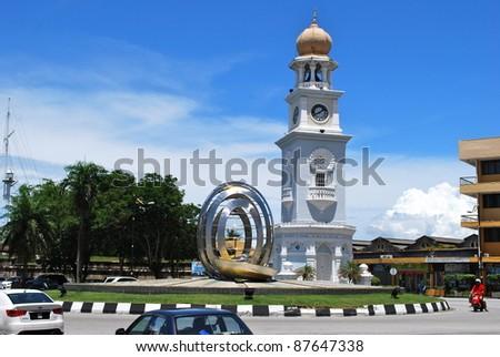 Clock Tower, Georgetown, Penang. - stock photo