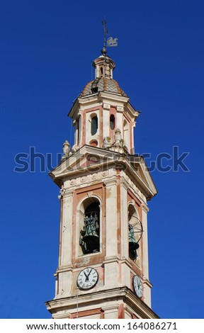 Clock Tower in Italy. - stock photo