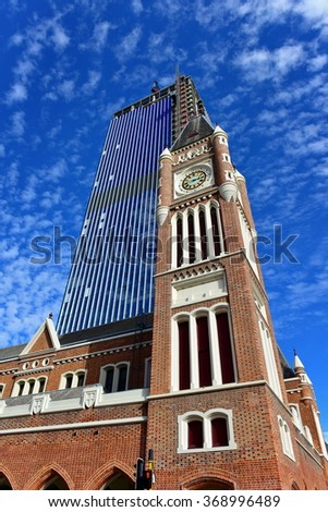 Clock tower in Perth, Western Australia - stock photo